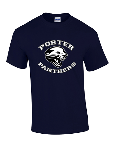t-shirt navy blue Panther Porter